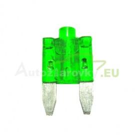 Autopoistka MINI 30A zelená s LED kontrolkou