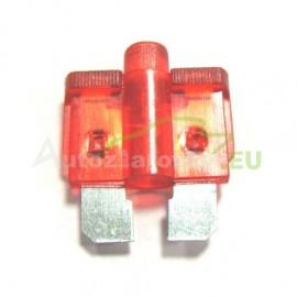 Autopoistka MEDIUM 10A červená s LED kontrolkou