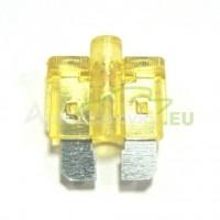 Autopoistka MEDIUM 20A žltá s LED kontrolkou