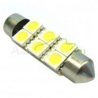 LED Autožiarovky STARBLAST 014108 - S8.5x39 6SMD 5050 - biele