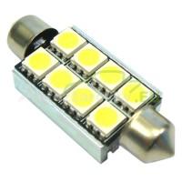 LED Autožiarovky STARBLAST 014118 - S8.5x42 CANBUS 8LED - biele