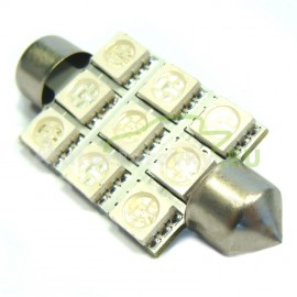 LED Autožiarovky STARBLAST 114109 - S8.5x42 9SMD 5050 - červené