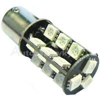 LED Autožiarovky STARBLAST 1146201 BAU15S CANBUS 27SMD 5050 - červené