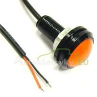 Konštrukčná 12V LED s káblom - červená