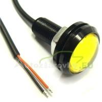 Konštrukčná 12V LED s káblom - žltá